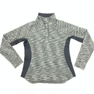 Columbia Half Button High Neck Athletic Pullover L